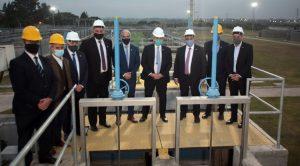 El Presidente puso en marcha la planta cloacal de Las Talitas