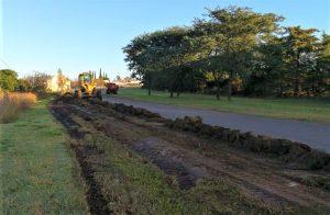 El municipio de Urdinarrain inició una serie de obras en el acceso Este de la ciudad