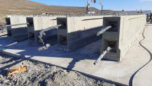 Camino Perón: ya se ejecutó el 35% del puente del arroyo La Mata