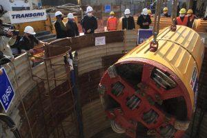 Bajan la tunelera de obra cloacal en Lomas de Zamora