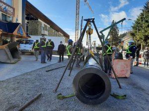 En Bariloche, ECOSUR Bahía avanza a buen ritmo la obra del colector cloacal sobre Bustillo