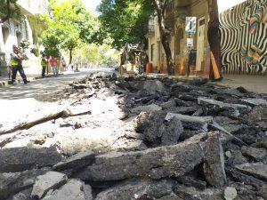 Mantenimiento de Pavimentos en Calles de la Ciudad de Rosario