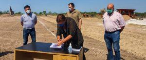 Dos Arroyos S.A. Comenzó la obra de rehabilitación del acceso a Maciá desde la ruta 6