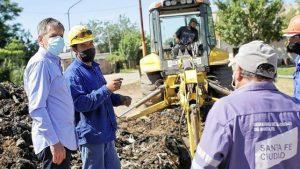 Obras de agua, pavimento y desagües en Villa Hipódromo Santa Fe $ 100 Millones