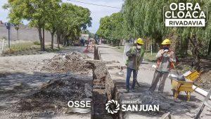 OSSE reactiva dos obras clave para el saneamiento de Rivadavia San Juan $ 715 Millones
