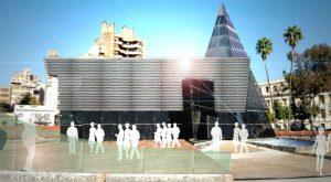 Planean un «coworking» con bar en la pirámide de la Plaza de la Intendencia
