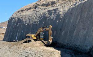 Se reinició la obra de estabilización del Cerro Chenque