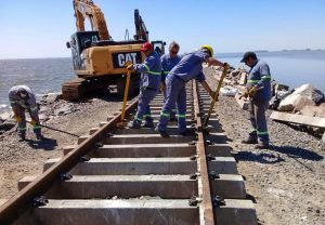 Finales en la reparación del pedraplén ferroviario sobre La Picasa $ 115 Millones