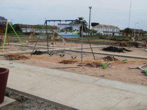 2 ofertas para la licitación de juegos infantiles en el Parque Pereira y Domínguez $ 21 Millones