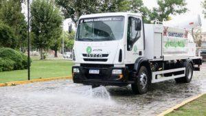 Grúas San Blas entregó los primeros Camiones Sanitizantes