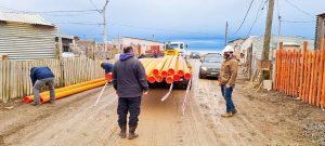 Avanzan las obras de red de gas natural, agua y cloaca para 622 viviendas Margen Sur de la ciudad de Ushuaia